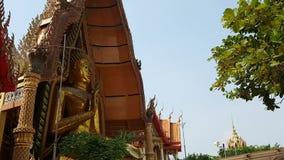 Горизонт города Бангкока, Timelapse, красивый заход солнца над горизонтом Chao Рекы Phraya, предпосылкой неба захода солнца, шлюп видеоматериал