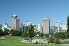 Горизонт города Ванкувер Стоковые Фотографии RF