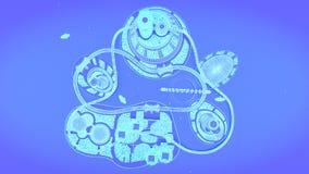 Горизонт города концепции будущий Футуристическая концепция зрения дела иллюстрация 3d Стоковое Изображение RF