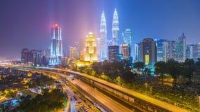 Горизонт города Куалаа-Лумпур, Малайзии сток-видео