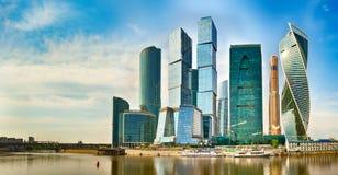 Горизонт города Москвы панорама Стоковое Изображение