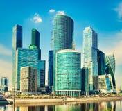 Горизонт города Москвы Стоковое Изображение RF