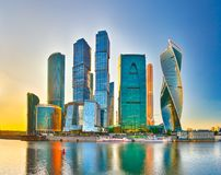Горизонт города Москвы Стоковые Изображения