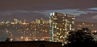 Горизонт города на сумраке Стоковое Изображение