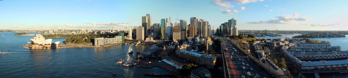 Горизонт города панорамы Сиднея CBD стоковые изображения