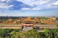 горизонт города Пекин запрещенный облаком Стоковое Изображение