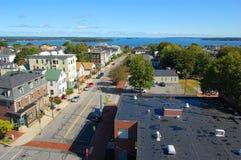 Горизонт города Портленда, Мейн, США стоковое фото