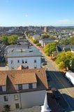 Горизонт города Портленда, Мейн, США стоковое фото rf