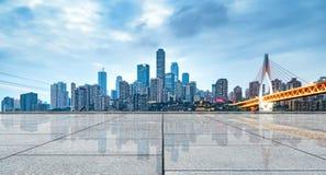горизонт города самомоднейший Стоковое Изображение RF