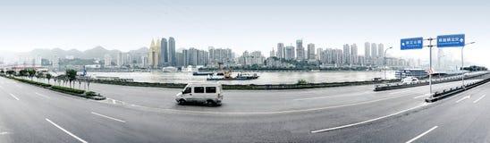 горизонт города самомоднейший Стоковые Изображения