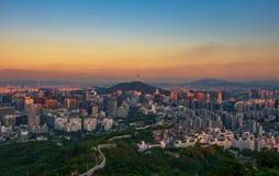 Горизонт города Сеула стоковые изображения