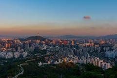 Горизонт города Сеула стоковое фото rf