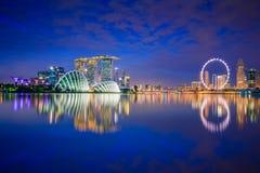 Горизонт города Сингапура стоковое фото