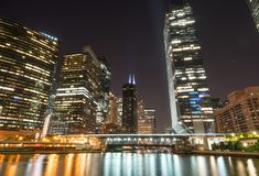 Горизонт города Чикаго стоковое фото rf