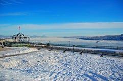Горизонт города Levis и Река Святого Лаврентия, Квебек, Канада стоковое изображение rf
