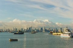 Горизонт города ` s Панамы Стоковое Изображение