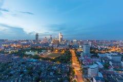 Горизонт города ` s Wuxi Китая стоковые фотографии rf