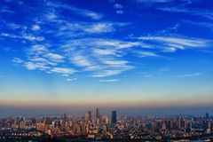 Горизонт города Wuxi стоковые изображения rf