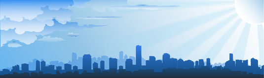 горизонт городского пейзажа Стоковое Фото