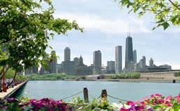 горизонт городского пейзажа chicago Стоковое Изображение