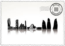 Горизонт города Баку Стоковые Изображения