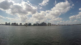 Горизонт города Бостона, Массачусетса в США сток-видео