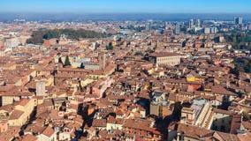 Горизонт города болонья от башни Asinelli Стоковая Фотография RF