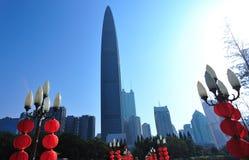Горизонт города в городе Шэньчжэня стоковая фотография