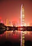 Горизонт города в городе Шэньчжэня стоковое фото rf