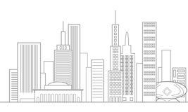 Горизонт города в сером цвете Стоковая Фотография RF