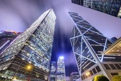 Горизонт города Гонконга Китая Стоковые Изображения