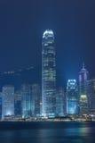 Горизонт города Гонконга Стоковое Изображение RF