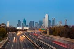 Горизонт города Далласа Стоковые Изображения RF