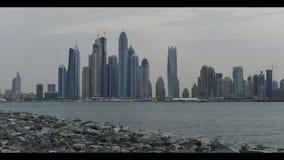 Горизонт города Дубай видеоматериал