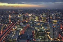 Горизонт города Иокогама, Японии Стоковые Изображения RF