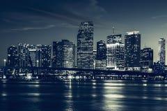 Горизонт города Майами Стоковая Фотография