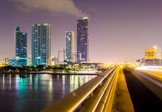 Горизонт города Майами Стоковое Изображение