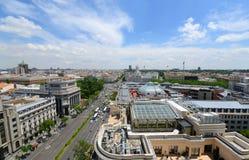 Горизонт города Мадрида, Испания Стоковое Изображение