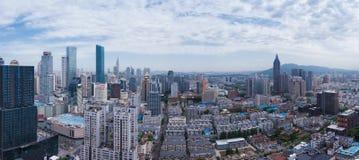 Горизонт города Нанкина Стоковая Фотография RF