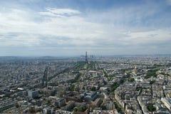 Горизонт города на дневном времени. Париж, Франция Стоковое Изображение RF