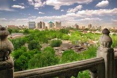 Горизонт города Пекина с Hutongs Стоковые Изображения RF