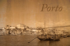 Горизонт города Порту, Португалии Стоковые Фото
