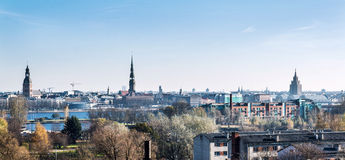 Горизонт города Риги latvia Стоковые Фото