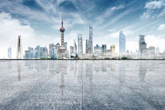 горизонт города самомоднейший Стоковое Изображение