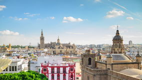 Горизонт города Севильи, Испании сток-видео