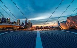 Горизонт города Сингапура увиденный от песков залива Марины Стоковое Изображение RF