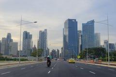 Горизонт города Сингапура Стоковые Фотографии RF