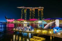 Горизонт города Сингапура стоковые фото