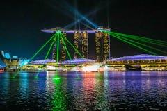Горизонт города Сингапура стоковая фотография