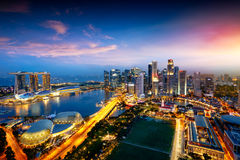 Горизонт города Сингапура стоковое изображение rf
